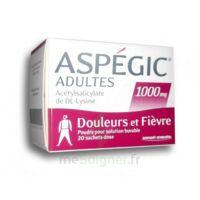 ASPEGIC ADULTES 1000 mg, poudre pour solution buvable en sachet-dose 20 à POITIERS