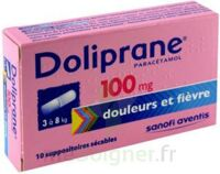 DOLIPRANE 100 mg Suppositoires sécables 2Plq/5 (10) à POITIERS