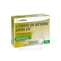 Citrate de Bétaïne UPSA 2 g Comprimés effervescents sans sucre menthe édulcoré à la saccharine sodique T/20 à POITIERS