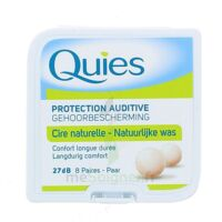 QUIES PROTECTION AUDITIVE CIRE NATURELLE 8 PAIRES à POITIERS