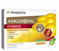 Arkoroyal Dynergie Ginseng Gelée Royale Propolis Solution Buvable 20 Ampoules/10ml à POITIERS