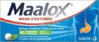MAALOX HYDROXYDE D'ALUMINIUM/HYDROXYDE DE MAGNESIUM 400 mg/400 mg Cpr à croquer maux d'estomac Plq/40 à POITIERS