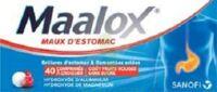 MAALOX MAUX D'ESTOMAC HYDROXYDE D'ALUMINIUM/HYDROXYDE DE MAGNESIUM 400 mg/400 mg SANS SUCRE FRUITS ROUGES, comprimé à croquer édulcoré à la saccharine sodique, au sorbitol et au maltitol à POITIERS