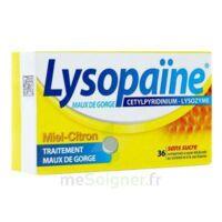 LYSOPAÏNE MAUX DE GORGE CETYLPYRIDINIUM LYSOZYME MIEL CITRON SANS SUCRE, comprimé à sucer édulcoré au sorbitol et à la saccharine