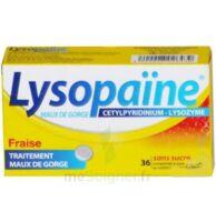 LYSOPAÏNE MAUX DE GORGE CETYLPYRIDINIUM LYSOZYME FRAISE SANS SUCRE, comprimé à sucer édulcoré au sorbitol et à la saccharine