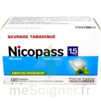 Nicopass 1,5 mg Pastille sans sucre menthe fraîcheur Plq/96 à POITIERS