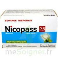 Nicopass 2,5 mg Pastille menthe fraîcheur sans sucre Plq/96 à POITIERS