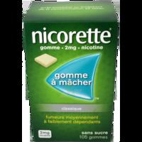 NICORETTE 2 mg Gom à mâcher médic sans sucre menthe fraîche Plq/105gom à POITIERS
