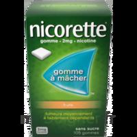 Nicorette 2 mg Gomme à mâcher médicamenteuse sans sucre fruits Plq/30 à POITIERS