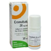 CROMABAK 20 mg/ml, collyre en solution à POITIERS