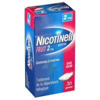 NICOTINELL FRUIT 2 mg SANS SUCRE, gomme à mâcher médicamenteuse Plaq/36gom à POITIERS