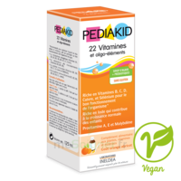 Pédiakid 22 Vitamines et Oligo-Eléments Sirop abricot orange 125ml à POITIERS