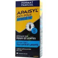 Apaisyl Anti-poux Xpress 15' Lotion antipoux et lente 200ml+peigne à POITIERS