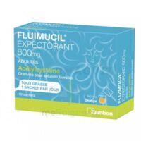 FLUIMUCIL EXPECTORANT ACETYLCYSTEINE 600 mg Glé s buv adultes 10Sach à POITIERS