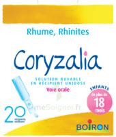 Boiron Coryzalia Solution buvable unidose B/20 à POITIERS